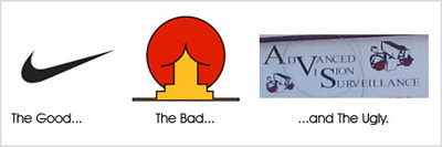 Voorbeelden van goede en slechte logo's